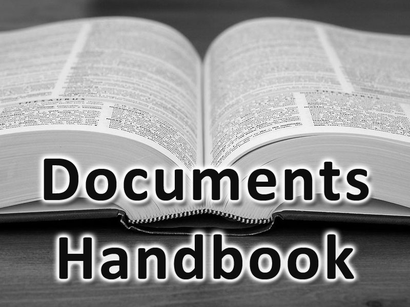 Handbook of Documents and Formats