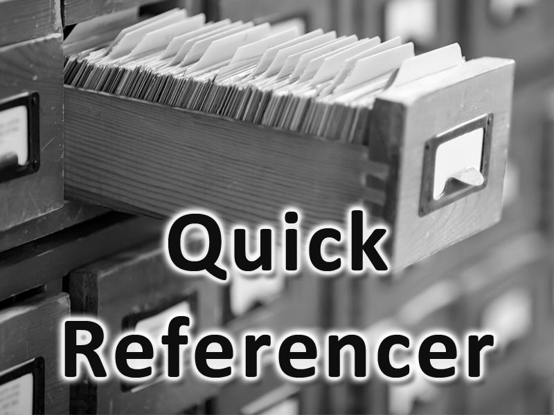 Quick Referencer